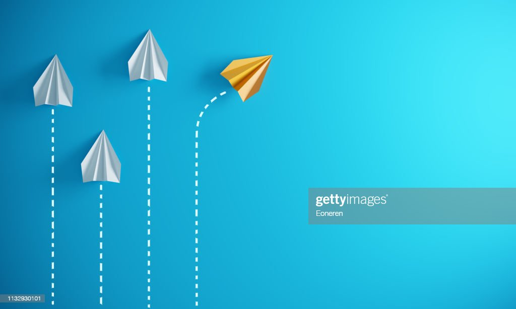 Leadership Concept With Paper Airplanes : Stock Photo
