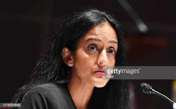 Leadership Conference for Civil Rights President and CEO Vanita Gupta testifies during the House Judiciary Committee hearing on Policing Practices...