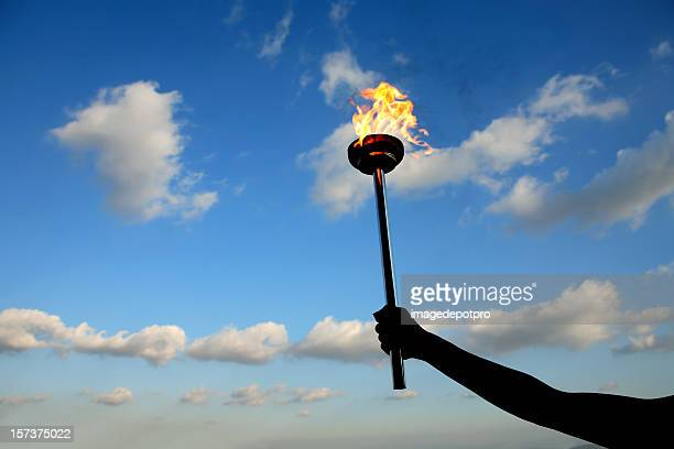 leadership torch - flame stock pictures, royalty-free photos & images