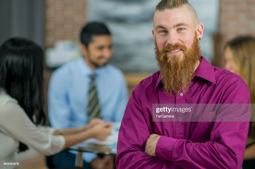 Leading a Business Meeting : Stock Photo