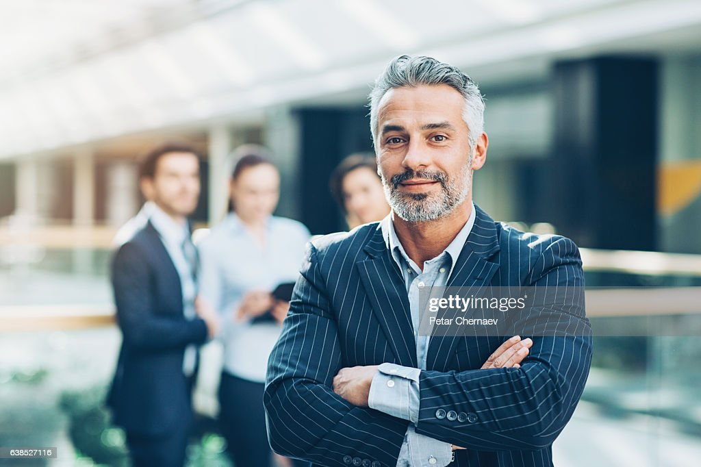 Leading a team of professionals : Stock Photo