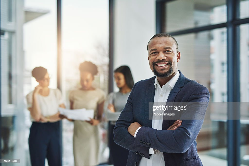 Leading a team of world class professionals : Stock Photo