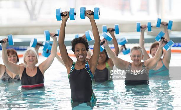 Leading a Water Aerobics Class