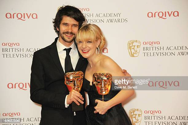 Leading Actor Ben Whishaw and Leading Actress Sheridan Smith pose in the press room at the Arqiva British Academy Television Awards 2013 at the Royal...