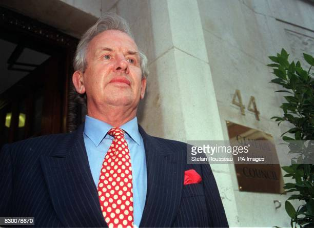 Leading gynaecologist Rodney Ledward outside the General Medical Council in London, after he was struck off the medical register, for a seven-year...