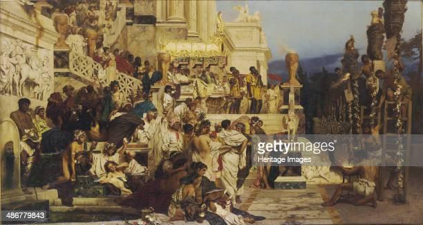 Leading Light of Christianity Neros Torches 1882 Artist Siemiradzki Henryk