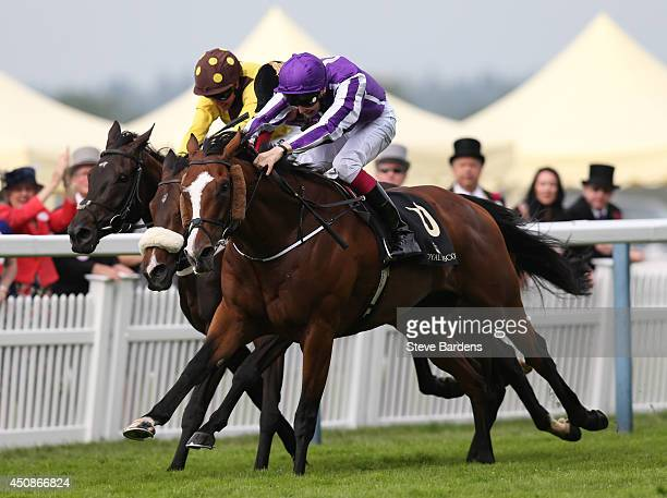 Leading Light ridden by Joseph O'Brien breaks away to win the Gold Cup on day three of Royal Ascot at Ascot Racecourse on June 19 2014 in Ascot...
