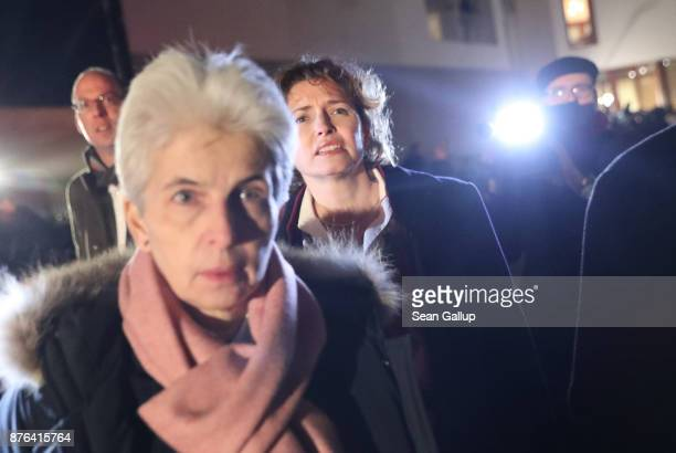 Leading members of the Free Democratic Party including Nicola Beer depart following troubled preliminary coalition talks at the BadenWuerttemberg...