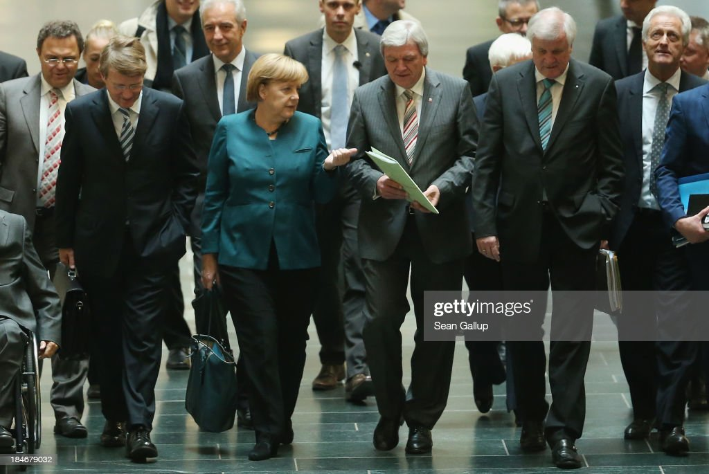 CDU And Greens Party Continue Negotiations Over Possible Coalition