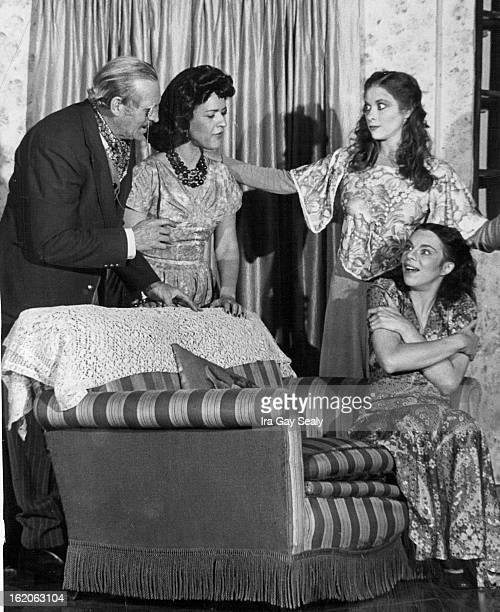 Leading Players in Production of Noel Coward Play, 'Blithe Spirit'; From left, Ira Gay Sealy, Shirley Teter, Kathy Bianchi and Lisa Deutsch.;