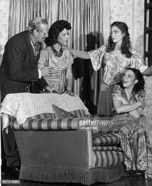 Leading Players in Production of Noel Coward Play, 'Blithe Spirit' From left, Ira Gay Sealy, Shirley Teter, Kathy Bianchi and Lisa Deutsch. Credit:...