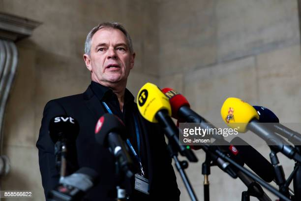 Leading police officer Jens MoellerJensen informs the press about yesterday evenings breakthrough in the murder case of Swedish journalist Kim Wall...