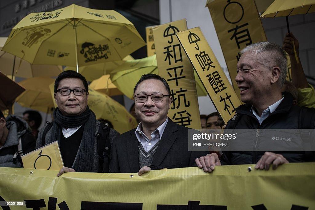 Image result for Chan Kin-man, Benny Tai, Chu Yiu-ming, photos
