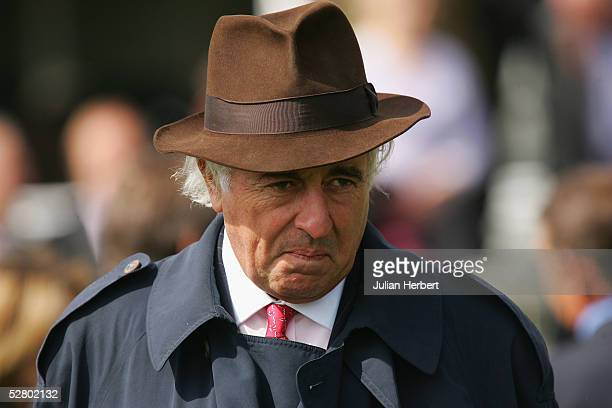 Leading racehorse owner John Magnier at York Racecourse on the day he sold his shares in Manchester United Football Club on May 12 2005 in York...