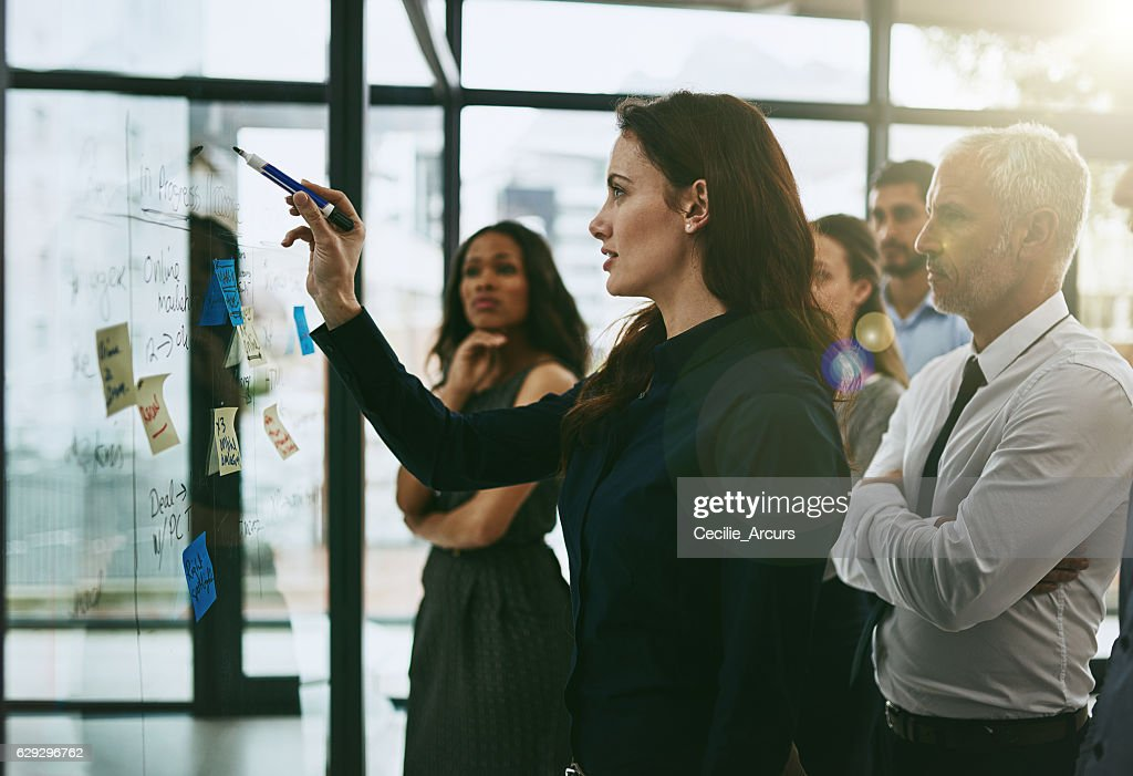 Leading the planning process : Stock Photo