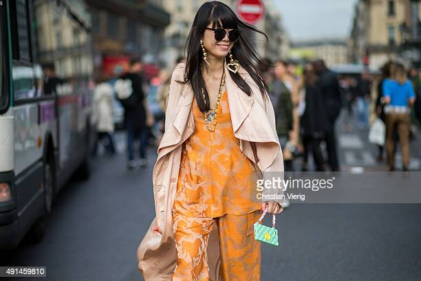 Leaf Greener after Stella McCartney during the Paris Fashion Week Womenswear Spring/Summer 2016 on October 5 2015 in Paris France