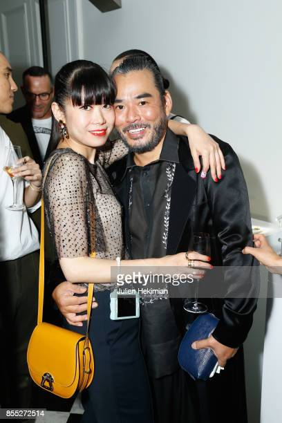 Leaf Greener and Melvin Chua attend the Atelier Swarovski By Jason Wu dinner as part of the Paris Fashion Week Womenswear Spring/Summer 2018 on...