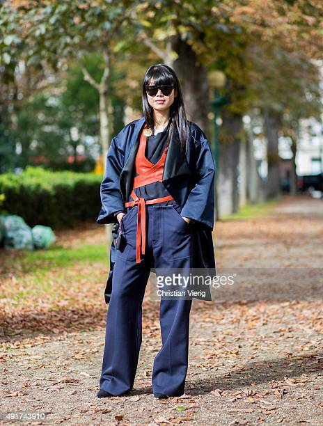 Leaf Greener at Moncler Gamme Rouge during the Paris Fashion Week Womenswear Spring/Summer 2016 on Oktober 7 2015 in Paris France