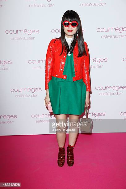 Leaf Greener attends Courreges and Estee Lauder Dinner Party as part of the Paris Fashion Week Womenswear Fall/Winter 2015/2016 on March 7 2015 in...