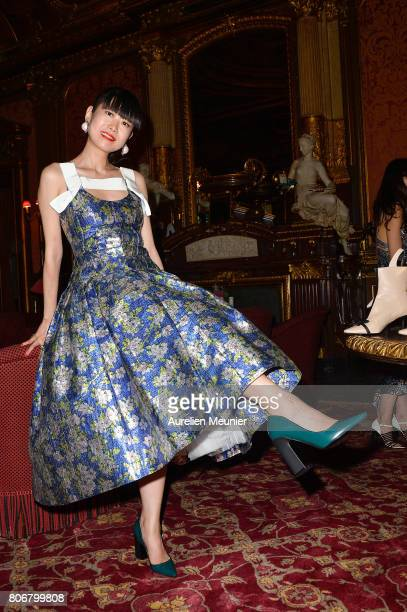 Leaf Greener attends the dinner to celebrate the launch of Fabrizio Viti Cruise 18 Collection Back In Love Again at Hotel La Pavia on July 3 2017 in...