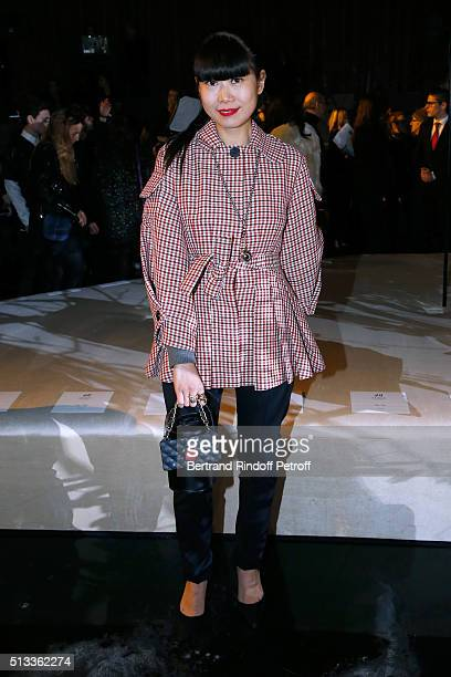 Leaf Greener attends the HM Studio show as part of the Paris Fashion Week Womenswear Fall/Winter 2016/2017 on March 2 2016 in Paris France