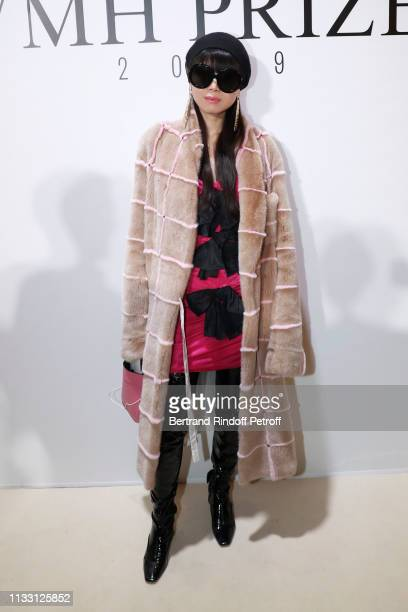 Leaf Greener attends the LVMH Prize 2019 Edition at Louis Vuitton Avenue Montaigne Store on March 01 2019 in Paris France