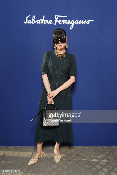 Leaf Greener attends the Salvatore Ferragamo show during Pitti Immagine Uomo 96 on June 11, 2019 in Florence, Italy.