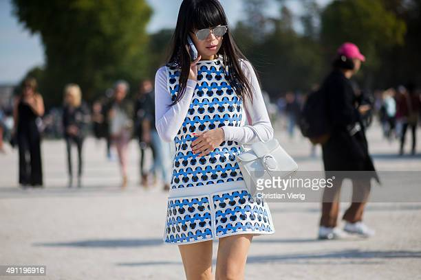 Leaf Greener during the Paris Fashion Week Womenswear Spring/Summer 2016 on October 3 2015 in Paris France