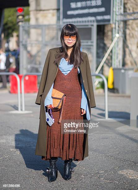 Leaf Greener during the Paris Fashion Week Womenswear Spring/Summer 2016 on October 4 2015 in Paris France