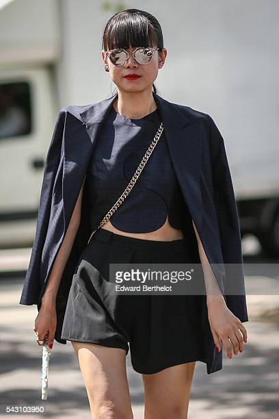 Leaf Greener is seen, after the Dior show, during Paris Fashion Week Menswear Spring/summer 2017, on June 25, 2016 in Paris, France.