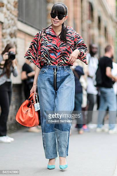 Leaf Greener is seen after the Lemaire show during Paris Fashion Week Menswear Spring/Summer 2017 on June 22 2016 in Paris France