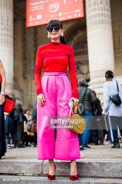Leaf Greener is seen after the Maison Margiela show at the Grand Palais during paris Fashion week Womenswear SS18 on September 27 2017 in Paris France
