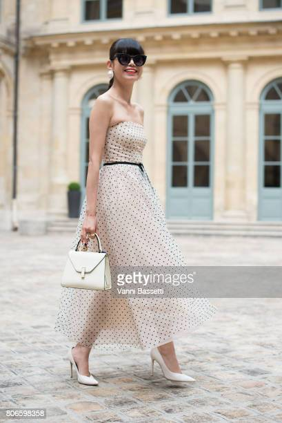 Leaf Greener poses after the Schiaparelli show at Place Vendome during Paris Fashion Week Haute Couture FW 17/18 on July 3 2017 in Paris France