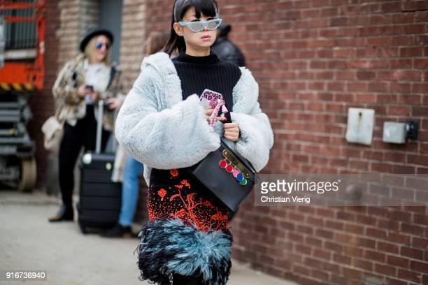 Leaf Greener seen outside SelfPortrait on February 10 2018 in New York City