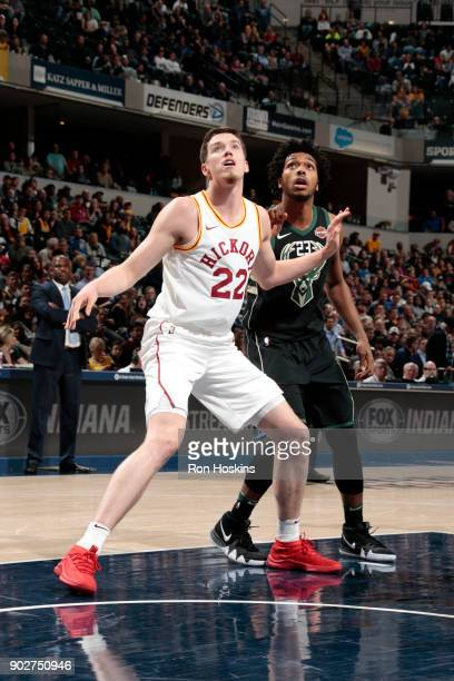 J Leaf of the Indiana Pacers boxes out against the Milwaukee Bucks on January 8 2018 at Bankers Life Fieldhouse in Indianapolis Indiana NOTE TO USER...