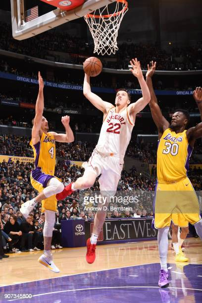 J Leaf of the Indiana Pacers goes to the basket against the Los Angeles Lakers on January 19 2018 at STAPLES Center in Los Angeles California NOTE TO...