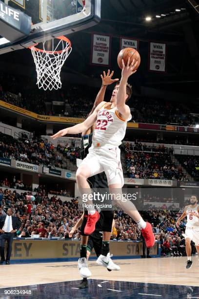 J Leaf of the Indiana Pacers goes to the basket against the Milwaukee Bucks on January 8 2018 at Bankers Life Fieldhouse in Indianapolis Indiana NOTE...