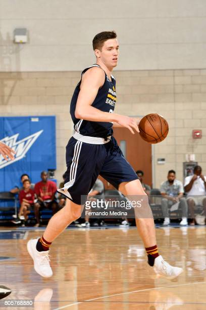 J Leaf of the Indiana Pacers handles the ball against the Charlotte Hornets during the 2017 Summer League on July 2 2017 at Amway Center in Orlando...
