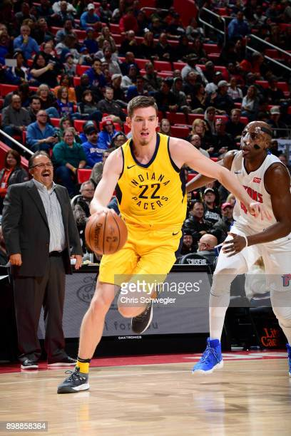 J Leaf of the Indiana Pacers handles the ball against the Detroit Pistons on December 26 2017 at Little Caesars Arena in Detroit Michigan NOTE TO...
