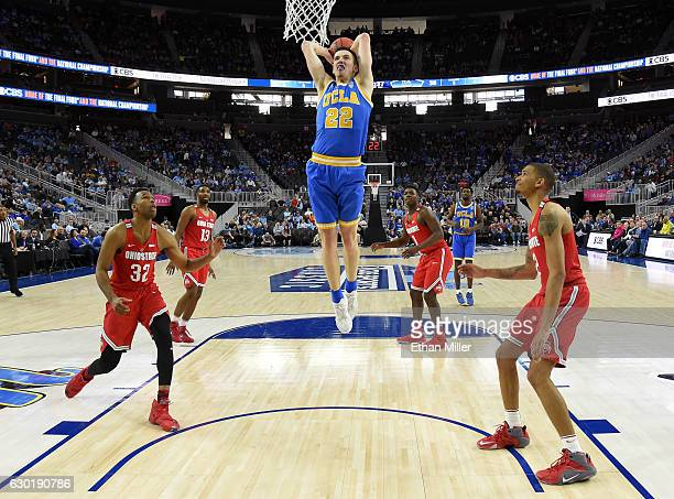 Leaf of the UCLA Bruins dunks against the Ohio State Buckeyes during the CBS Sports Classic at TMobile Arena on December 17 2016 in Las Vegas Nevada...