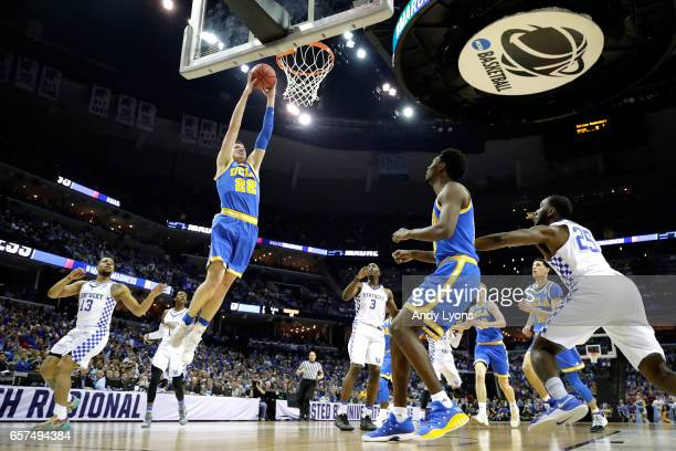 Leaf of the UCLA Bruins goes up for a dunk in the first half against the Kentucky Wildcats during the 2017 NCAA Men's Basketball Tournament South...