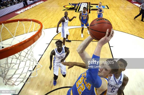 Leaf of the UCLA Bruins goes up with the ball against Malik Monk of the Kentucky Wildcats in the first half during the 2017 NCAA Men's Basketball...