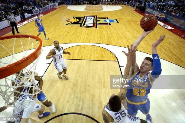 Leaf of the UCLA Bruins shoots against Derek Willis of the Kentucky Wildcats in the first half during the 2017 NCAA Men's Basketball Tournament South...