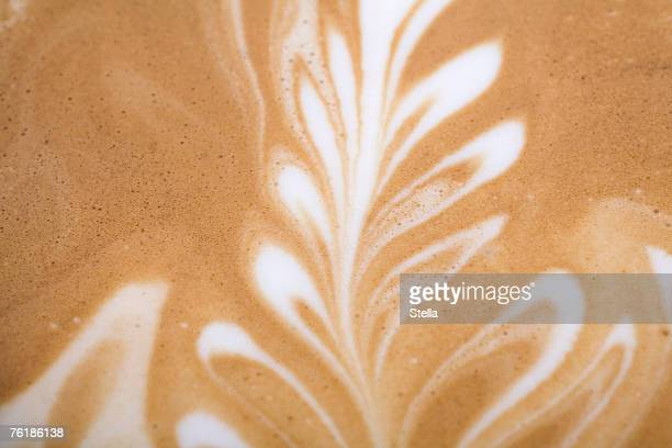 Leaf pattern on a Latte