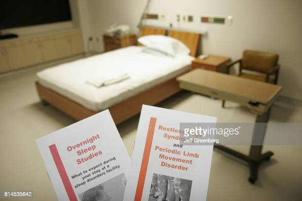 Leaflets in the sleep study room at the Sleep Disorders Center at Mount Sinai Medical Center