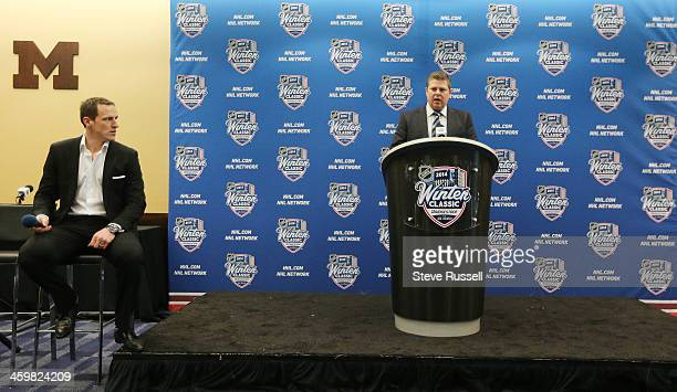 ANN ARBOR MI DECEMBER 31 Leafs GM Dave Nonis announces that Dion Phaneuf has signed a seven year contract extension for 49 million dollars before the...