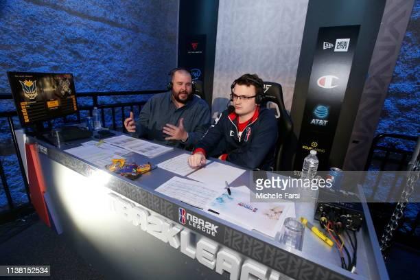 League announcers Scott Cole and Jamie Diaz Ruiz call the game as Mavs Gaming take on Jazz Gaming during Week 2 of the NBA 2K League regular season...