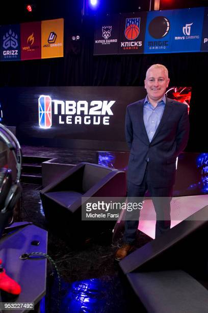 League Commissioner Brendan Donohue poses for a photo during the NBA 2K League media availability on April 30 2018 at the NBA 2K League Studio in...