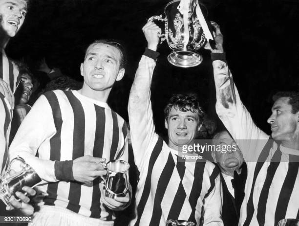 League Cup Final Second Leg match at the Hawthorns West Bromwich Albion 4 v West Ham United 1 West Brom captain Graham Williams flanked by teammates...