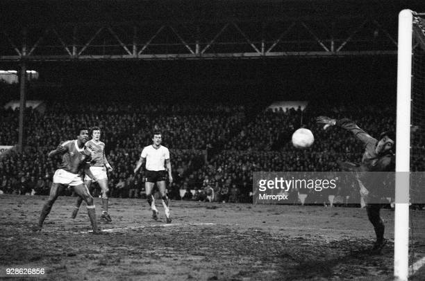 League Cup Semi Final First Leg match at the City Ground Nottingham Forest 1 v Liverpool 0 Viv Anderson looks on as this effort from Kenny Dalglish...